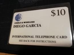 DIEGO GARCIA  $10,-  DG001  NICE FINE USED CARD   **533** - Diego-Garcia