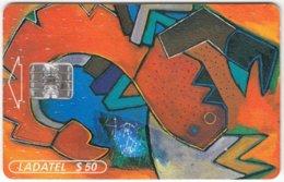 MEXICO A-318 Chip Telmex - Signs Of Zodiac, Scorpio, Painting, Modern Art - Used - Mexiko