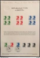 France - Document Philatélique - FDC - Premier Jour - Marianne - YT Nº 2219 à 2221 - 1982 - 1980-1989