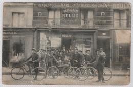 CPA 78 Versailles 7 Rue Saint Honorè Charrons & Forgerons Restaurant Groupe Cyclistes - Versailles