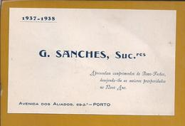 Cartão De Boas Festas /Ano Novo, Do Ano De 1937 Da Empresa G. Sanches, Sucº Do Porto. Relojoaria. - Portugal