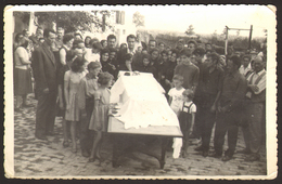 Funeral Dead Man In A Coffin Old Photo 9x14 Cm #30431 - Personnes Anonymes