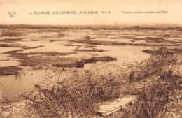 DIXMUDE - Souvenir De La Guerre 1914-18 - Positions Ennemies Innondées Par L'Yser - Diksmuide