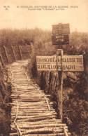 """DIXMUDE - Souvenir De La Guerre 1914-18 - Tranchée Belge """"L'Eclusette"""" Sur L'Yser - Diksmuide"""