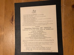 De Troch Josephus Wed De Dobbeleer Joanna Maria *1849 Ternat +1944 Ternat Gemeenteraadslid Van Eeckhout De Coen - Obituary Notices