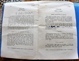 1926 ÉPREUVES EN ANGLAIS SUR LA NAVIGATION LA MER LE VENT LA HOULE ...LIRE ET TRADUIRE .... - Autres Collections