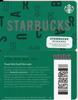USA - Starbucks Card(reverse 2), CN : 6178, Unused - Cartes Cadeaux