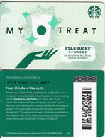USA - My Treat, Starbucks Card(reverse 2), CN : 6178, Unused - Cartes Cadeaux