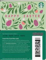 USA - Happy Easter, Starbucks Card(reverse 2), CN : 6178, Unused - Cartes Cadeaux