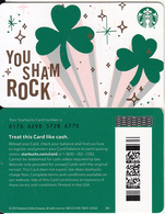 USA - You Sham Rock, Starbucks Card(reverse 2), CN : 6176, Unused - Cartes Cadeaux