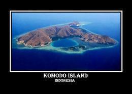Indonesia Komodo Island Aerial View UNESCO New Postcard Indonesien AK - Indonesien