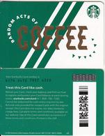 USA - Random Acts Of Coffee, Starbucks Card(reverse 2), CN : 6176, Unused - Cartes Cadeaux