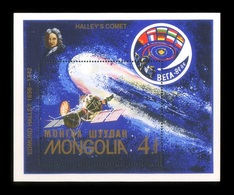 Mongolia 1986 Mih. 1835 (Bl.117) Space. Halley's Comet MNH ** - Mongolia
