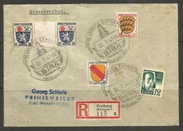 GERMANY / BADEN. FRENCH ZONE. 1947. REGISTERED COVER. FREIBURG POSTMARK PRIMISWEILER ARRIVAL - Zone Française