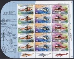 South Korea 2020 Helicopter, KUH-1EM, KUH-1P, KUH-1FS, Hélicoptère, Full Sheet - Corée Du Sud