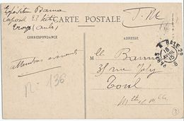 AMBULANT CP EN FM 1915 PARIS A BALE 2° BRIGADE B - Poststempel (Briefe)