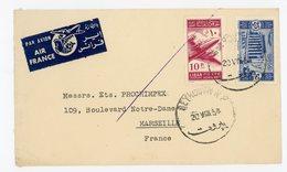LIBAN ENV 1954 BEYROUTH ETIQUETTE AVION AIR FRANCE JOLIE LETTRE AVION => FRANCE - Liban