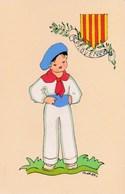 Provence - Provençal En Costume Traditionnel - Folklore - Dessin De Addi - Blason Armoiries Région - Provence-Alpes-Côte D'Azur