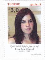 Tunisia New Issue 2020 -Lina Ben Hani,Tunisian Free Fighter 1v. Compl. Set MNH ( No Skrill & Paypal ) - Tunisia