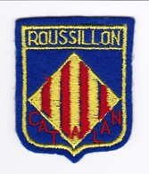 Ecusson Tissu - Roussillon - Catalan - Blason - Armoiries - Héraldique - Stoffabzeichen