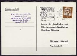 Münster Westfalen Ortsdrucksache 1962 EF Masch. Stempel Technik + Leben (10240 - Postzegels