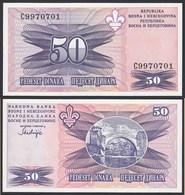 Bosnia & Herzegovina - 50 Dinara Banknote 1995 UNC Pick 47   (14423 - Bosnië En Herzegovina