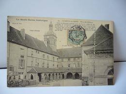LA HAUTE SAÔNE HISTORIQUE 60 LUXEUIL LES BAINS 70 HAUTE SAÔNE PLACE DE L'ABBAYE Les Cloîtres Le Théâtre CPA 1906 - Luxeuil Les Bains