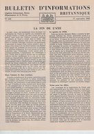 Légation Britannique De Berne Bulletin D'information 15.09.1943 - Guerre Information Angleterre Suisse - Libri, Riviste, Fumetti