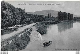 Groslée. La Ligne De Tramways Sur Les Bords Du Rhône. - Francia