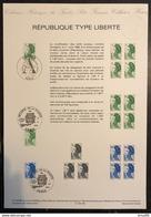 France - Document Philatélique - FDC - Premier Jour - Marianne - YT Nº 2423 à 2425 - 1986 - 1980-1989