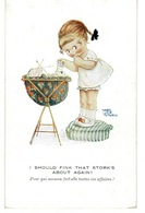 Illustrateur MABEL LUCIE ATTWELL - I Soutd Fink That Stork's About Again!.- CPA (  Angleterre ) - Attwell, M. L.