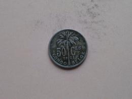 1923 > 50 Centimes ( KM 22 ) > ( Uncleaned Coin / For Grade, Please See Photo ) ! - Congo (Belgian) & Ruanda-Urundi