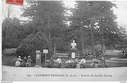 Clermont Ferrand. Le Pese Personne Et Statue De Lecoq à L'entrée Du Jardin Lecoq. - Clermont Ferrand