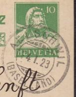 BL   ALLSCHWIL  /  SEHR SAUBER GESTEMPELT 1923 - Covers & Documents