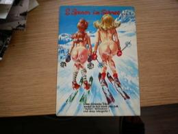 Humor Nude 2 Spiren Im Schnee  Skiing - Humor