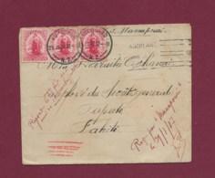 170320 - OCEANIE NOUVELLE ZELANDE - Lettre Affanchie 3 X One PENNY AUCKLAND Par S/S MANAPOURI Pour Papete TAHITI 1912 - Brieven En Documenten