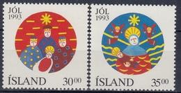 +Iceland 1993. Christmas. Michel 795-96. MNH(**) - 1944-... Republique
