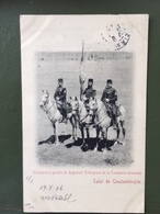Salut De Constantinople- Etendard Et Gardes Du Regiment Erthogroul De La Cavalerie Ottomane - Turquie