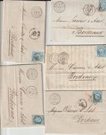 Lot 15 Lettres Champagne Krug/Reims Et Cognac Hennessy/Cognac (3 Scans) - 1849-1876: Klassik