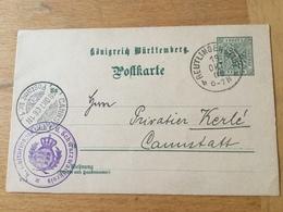 GÄ32343VI Württemberg Ganzsache Stationery Entier Postal P 29 Von Reutlingen Nach Cannstatt - Wuerttemberg