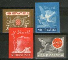 CROATIE: N°115/118 ** Non Dentelés ! - Croatie