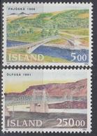 +Iceland 1992. Bridges. Michel 768-69. MNH(**) - 1944-... Republique