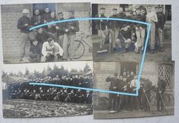 Photox4 ABL Soldats Belges Infanterie 9ème Régiment De Ligne 1912 Beverlo Uniforme Mauser Caserne Baraquement  Militaria - Guerre, Militaire