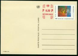 Ga UN Geneva Postal Stationary 1996 MiNr P 11 Postcard Mint - Genf - Büro Der Vereinten Nationen
