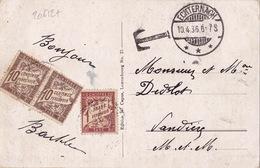20612# LUXEMBOURG CARTE POSTALE TAXEE Obl ECHTERNACH 1936 Pour VANDIERES MEURTHE ET MOSELLE - Marcophilie (Lettres)
