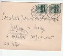 HORION HOZEMONT CHATEAU DE LEXHY  ENVELOPPE DE 1917 - Oude Documenten