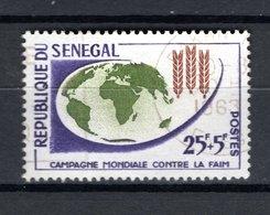 SENEGAL   N° 215   OBLITERE   COTE  0.80€   CAMPAGNE CONTRE LA FAIM - Senegal (1960-...)