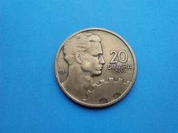 YOUGOSLAVIE   20 Dinars  1955 - Yugoslavia