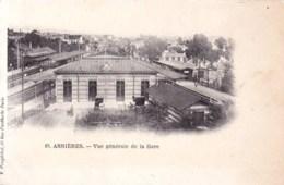 92 -  Hauts De Seine -  ASNIERES  Sur SEINE - Vue Generale De La Gare - Asnieres Sur Seine