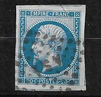 France N° 14A      Oblitéré B/TB   Paris AS  1  Hôtel De Ville         .. Soldé à Moins De10 % ! ! ! - 1853-1860 Napoleon III
